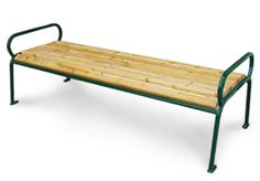 Model PVC6 | Parkview Wooden Outdoor Benches (Cedar/Forest Green)
