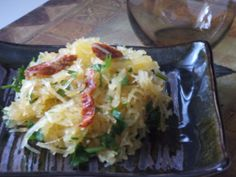 Spaghetti Squash with Sundried Tomatoes and Garlic