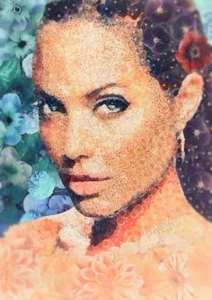 • ANGELINA JOLIE | АНДЖЕЛИНА ДЖОЛИ  by Arseny Samolevsky foe www.PosterFaces.com