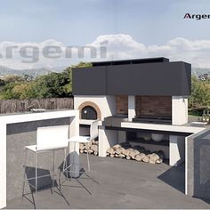 Barbacoa a mida amb forn Vallès - Argemi Prefabricats Design Barbecue, Grill Design, Barbecue Grill, Budget Patio, Barbacoa Jardin, Pizza Oven Fireplace, Parrilla Exterior, Fire Pit Bbq, Outdoor Barbeque