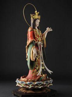 イズム(リアル仏像) - 吉祥天(復元極彩色仕様 ) 高さ38cm -京都・浄瑠璃寺の重文吉祥天立像がモデル。