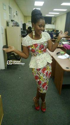 Cute ~African Prints, African women dresses, Kitenge, Ankara, Kente, African fashion styles, African clothing, Nigerian style, Ghanaian fashion ~DK