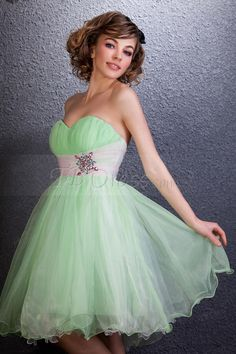 Dramatic Short Empire Sweetheart Daria's Homecoming/Sweet Sixteen Dress