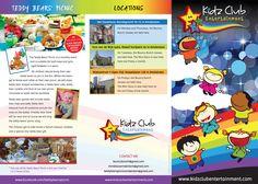 New Leaflet for Kidz Club Entertainment (Outside)