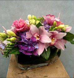 Hydrangea Orchids Carnations Mini Roses