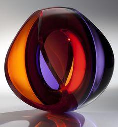 """""""Purple Red"""" - John Kiley. #glassart #artglass #artwork http://www.pinterest.com/TheHitman14/art-glasscrystal-%2B/"""