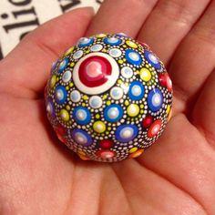 Little Marble Dot Art Mandala Painted marble by CreateAndCherish