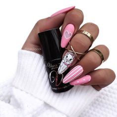 Dream Nails, Love Nails, Mickey Nails, Nailart, Really Cute Nails, Valentine's Day Nail Designs, Valentine Nail Art, Almond Acrylic Nails, Minimalist Nails