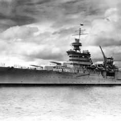 USS Indianapolis torpedoed by Japanese Sub after delivering the Atomic Bomb to the island of Tinnin in the Pacific in 1945.