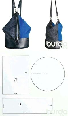 Backpack Bag - DIY Bags / Sewing Bag, Standing Seam Metal Roof Details: Cost, Colors, and Pros & Cons Standing s. Diy Bags No Sew, Crochet Shoes Pattern, Diy Backpack, Diy Bags Purses, Backpack Pattern, Diy Handbag, Canvas Messenger Bag, Rock Chic, Denim Bag