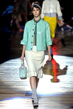 Minty green! Marc Jacobs Spring 2012 RTW