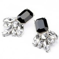 2014 New Black Clear Square Drop Earrings Wholesale Fashion Jewelry Factory US $2.36
