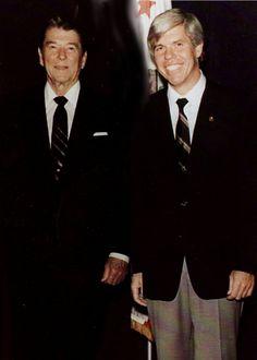 Bill Austin and President Ronald Reagan