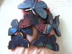 Dark Lady Butterfly  adjustable ring deep colours by NewellsJewels, £4.50