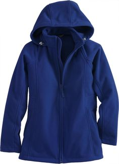 Duluth Trading Company's Women's Shoreline Hooded Fleece Coat is built for freezing weather with a waterproof, wind-blocking membrane sandwiched between layers of soft, warm fleece.