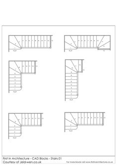 A selection of free cad blocks, featuring stairs in plan. Home Stairs Design, House Design, Stair Design, Floor Plan Symbols, Staircase Drawing, Stair Plan, Floor Planner, Counter Design, Cad Blocks