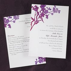 Watercolor Floral ValStyle - #Invitation weddingneeds.carlsoncraft.com