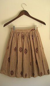 Toasted Almond Pleated Skirt From madmaxshop