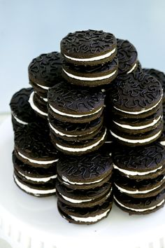 Oreo Cookie Recipe. I tried to ignore this, but I've seen a few Oreo recipes that all have ---ugh---coffee!! in them.  I still have trouble believing my favorite cookie has coffee-and that's supposed to be why it's so good?