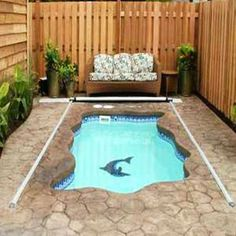 Inground Swimming Pool Spa With Wood Cover Outdoor Stuff Pinterest Houses In Usa Swimming
