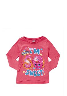 Shopkins Girls Pajama Set Pink Rainbow Thermal Pant and Long Sleeve Shirt 2 Pc Size 6 Be You Tiful Love SPK