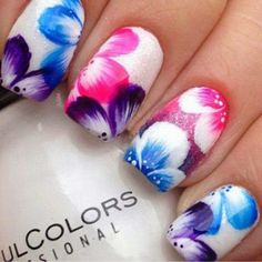Flower-Nail-Art-Designs-Acrylic-Free-Hand-Floral-Nail-Art