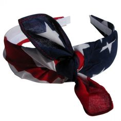 "Bandana Knot Tie HB 1"" Off-Center-American Flag"