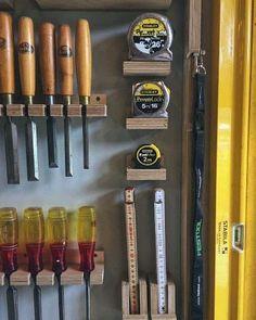 Top 80 Best Tool Storage Ideas - Organized Garage Designs Storage Shed Organization, Garage Tool Storage, Workshop Storage, Garage Tools, Diy Storage, Storage Ideas, Garage Sink, Tape Storage, Cabinet Storage
