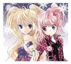 Shugo chara art-Utau and Amu Shugo Chara, Art Manga, Anime Manga, Anime Art, Anime Kiss, Anime Neko, Nocturne, Sailor Moon, Anime Friendship