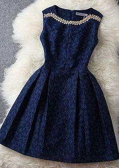 Navy Dress | pinned by kimbalikes.com