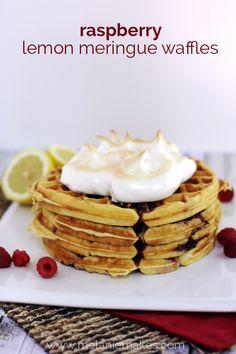 Raspberry Lemon Meringue Waffles   Melanie Makes