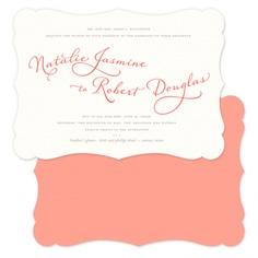 romance script wedding invites