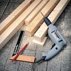 Fixer les extrêmités des éléments Play Houses, Outdoor Power Equipment, Drill, Diy And Crafts, Pergola, Woodworking, Construction, Home Decor, Place