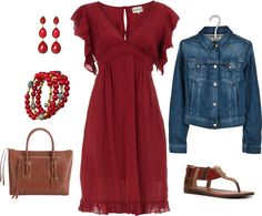 """""""Country Red"""" by leisa-708 on Polyvore"""