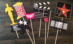 Items similar to Oscar party props/ movie theme birthday props / oscar props/ academy award/ hollywood party/ photobooth props/ oscar party decorations on Etsy Hollywood Birthday Parties, Hollywood Theme, Oscar Party, Movie Themes, Party Themes, Ideas Party, Kino Party, Cinema Party, Diy Birthday Decorations