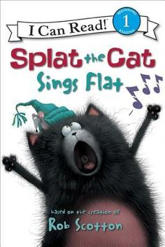 """When Splat's teacher announces that the whole class is going to sing for their parents on Parents' Night, Splat is worried: he's afraid to speak in public, much less """"sing"""" in public    In fact, he's so nervous he can't even manage a simple """"meow."""" What will it take for Splat to overcome his stage fright and make his parents proud?    """"Splat the Cat Sings Flat,"""" Splat's I Can Read debut, captures the experience of facing one's fears with warmth and humor."""