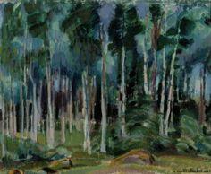 MAGNUS ENCKELL Birches in Vääksy (1919) Nordic Art, Museum Collection, Old Master, Natural World, Paper Design, Finland, Art Museum, Art Gallery, Landscape