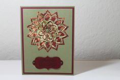 "Holiday card- ""Floral Burst"" Spellbinder's Cut, Fold & Tuck Die"
