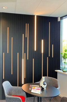 Wall Cladding Interior, Wall Cladding Designs, Interior Walls, Home Room Design, Living Room Designs, Office Interior Design, Interior Decorating, Wall Panel Design, Ceiling Design