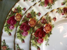 Old Country Roses...the is the pattern I picked out for our wedding registry...Classic.