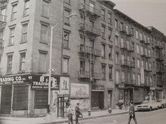 1960s Lower East Side Manhattan HESTER and ALLEN STREET NYC vintage photo NEW YORK CITY