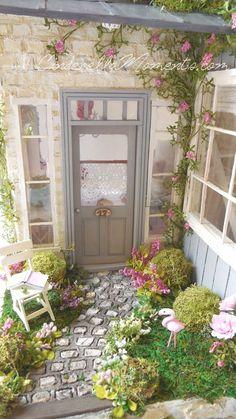 Cinderella Moments: Flamingo Cottage Custom Handmade Dollhouse
