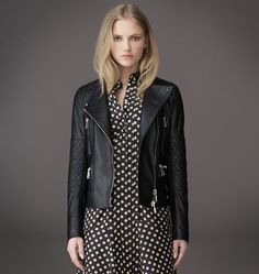 need this little black leather gorgeous thing from Belstaff. #need #leather