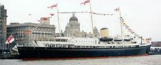 HMY Britannia.jpg  the last of the Royal yachts, now on display at Leith in Scotland. She was in use from 1954 -1997.
