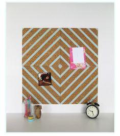 Tableau de liège décoré de washi tape