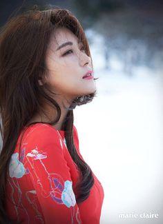 Ha Ji Won and Chen Bo Lin in Marie Claire Korea February 2016 Ha Ji Won, Beautiful Asian Girls, Most Beautiful, Beautiful People, Beautiful Women, Korean Actresses, Korean Actors, Asian Actors, Korean Women