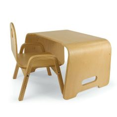 Kids' Steam Bent Wood Desk and Chair by Jupiter Workshop. $69.95. A toddler desk kids won't outgrow! It's hard to find a true desk and chair for very young scholars, let alone one with such clean, classic lines. But what makes our kids' furniture such an exceptional buy the desk morphs into a lap desk or side table later! Gorgeous bentwood, with a natural finish that blends with any decor. Assembly required. Kids' chair supports up to 100 lbs. For ages 18 months and up. ...