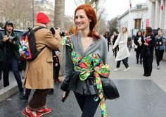 Taylor Tomasi Hill in a Rosie Assoulin top
