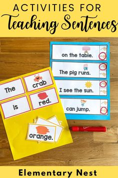This blog post is full of ideas for teaching sentences to your elementary students. The content covers simple and compound, run-on sentences and sentence fragments! Kindergarten, First, Second, Third, and Fourth Grade ideas are included! Fourth Grade, Second Grade, Simple And Compound Sentences, Sentence Fragments, Run On Sentences, Sentence Examples, Increase Knowledge, Subject And Predicate, Common Core Ela