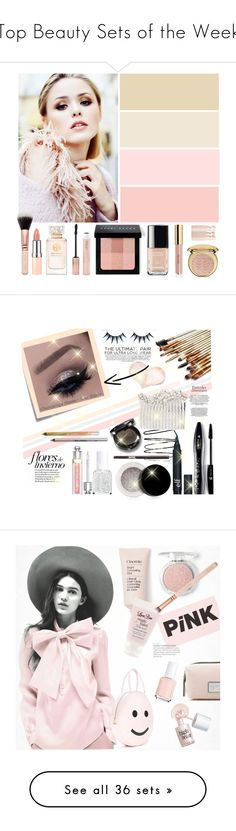 """""""Top Beauty Sets of the Week"""" by polyvore ❤ liked on Polyvore featuring schoonheid, Tory Burch, Rimmel, Bobbi Brown Cosmetics, Chanel, Forever 21, Christian Dior, Urban Decay, Post-It en Essie"""